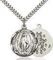 Sterling Silver Miraculous Pendant 0017M