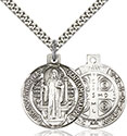 Sterling Silver St. Benedict Pendant 0027B