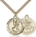 14kt Gold Filled St. Christopher Pendant 0192-2
