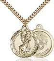 14kt Gold Filled St. Christopher Pendant 0192-4