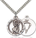 Sterling Silver St. Christopher Paratrooper Pendant 0192-7