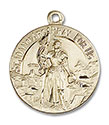 14kt Gold St. Joan of Arc Medal 0193