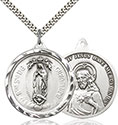 Sterling O/L of Guadalupe Pendant 0203F