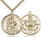 14kt Gold Filled St. Christopher Pendant 0203-2