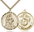 14kt Gold Filled St. Christopher Pendant 0203-4