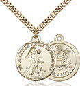 14kt Gold Filled Guardain Angel Army Pendant 0341-2