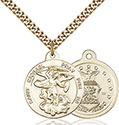 14kt Gold Filled St. Michael the Archangel Pendant 0342-1