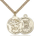 14kt Gold Filled St. Michael the Archangel Pendant 0342-3