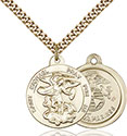 14kt Gold Filled St. Michael the Archangel Pendant 0342-4