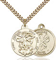 14kt Gold Filled St. Michael the Archangel Pendant 0342-5