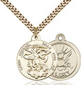 14kt Gold Filled St. Michael the Archangel Pendant 0342-6