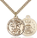 14kt Gold Filled St. Michael the Archangel Pendant 0344-1