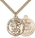 14kt Gold Filled St. Michael the Archangel Pendant 0344-2