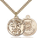 14kt Gold Filled St. Michael the Archangel Pendant 0344-3
