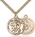 14kt Gold Filled St. Michael the Archangel Pendant 0344-4