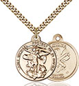 14kt Gold Filled St. Michael the Archangel Pendant 0344-5