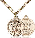 14kt Gold Filled St. Michael the Archangel Pendant 0344-6