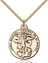 14kt Gold Filled St. Michael the Archangel Pendant 0344
