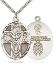 Sterling Silver 5-Way Holy Spirit Pendant 0680
