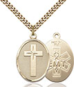 14kt Gold Filled Cross EMT Pendant 0783-10