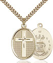 14kt Gold Filled Cross Air Force Pendant 0783-1