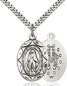 Sterling Silver Miraculous Pendant 0801M