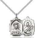 Sterling Silver Scapular Pendant 0804S