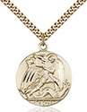 14kt Gold Filled St. Michael the Archangel Pendant 0840