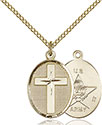 14kt Gold Filled Cross Army Pendant 0883-2