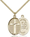 14kt Gold Filled Cross National Guard Pendant 0883-5