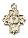 14kt Gold Communion 5-Way Medal 0890