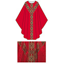 Chasuble Red Tassilo St. Andrew's Cross Orphrey 3035
