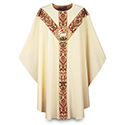 Chasuble Regina with Hand Embroidered Emblem 3168