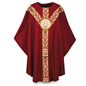 Chasuble Regina with Hand Embroidered Emblem 3169