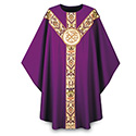 Chasuble Regina with Hand Embroidered Emblem 3171