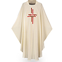 Chasuble Dupion White 3172
