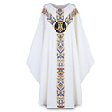 Chasuble Regina with Hand Embroidered Emblem 3361