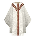 Chasuble White Rafael St. Andrew's Cross 5077