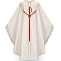 Chasuble Chi Rho White 5090