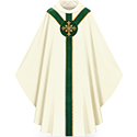 Chasuble White/Green 5180