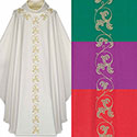 Chasuble Embroidered Floral Design 5223