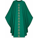Chasuble Dark Green Dupion 5224