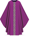 Chasuble Assisi Purple with Orphrey 1001