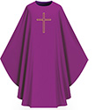 Chasuble Assisi Purple with Embroidered Cross 1002