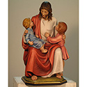 Statue Jesus Seated with Two Children 100/42