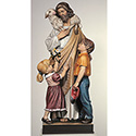 Statue Good Shepherd with Children Fiberglass 100/50