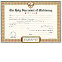 Certificate MarriagePad of 50 1043