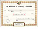 Certificate First Holy Communion Pad of 50 1044