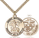 14kt Gold Filled St. Michael the Archangel Pendant 1170-4