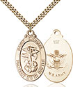 14kt Gold Filled St. Michael Pendant 1171-2